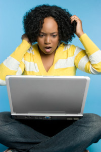 Frustrated Laptop Woman